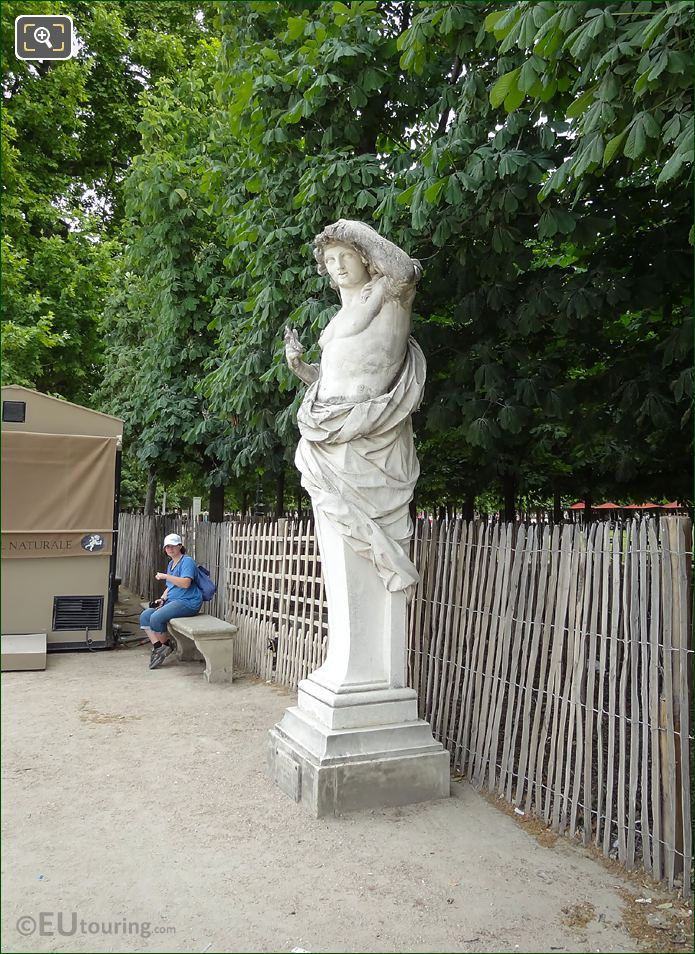 Side View Of Vertumne Statue In Paris