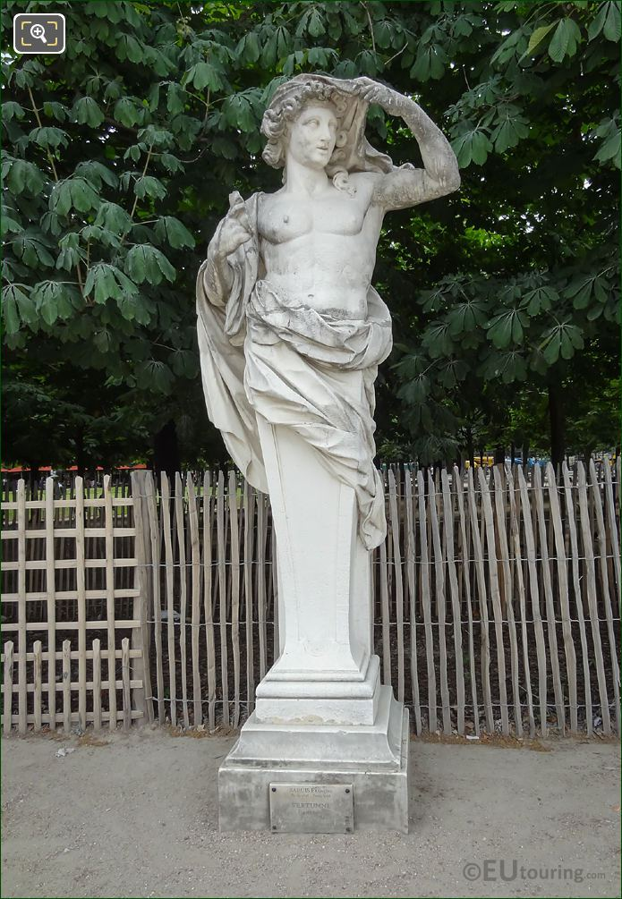 God Of The Seasons Statue Vertumne In Jardin Des Tuileries