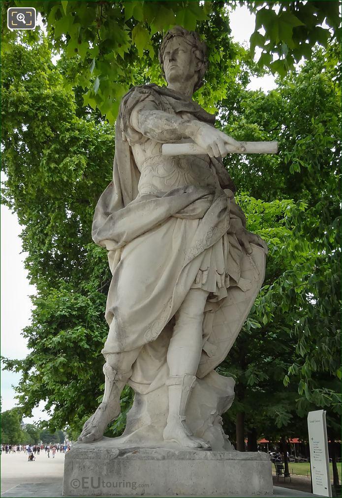 Julius Caesar Statue Holding Marshals Baton