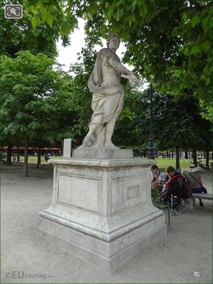Marble Julius Caesar Statue In Jardin Des Tuileries