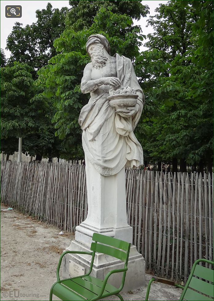 The Winter Statue In Tuileries Gardens