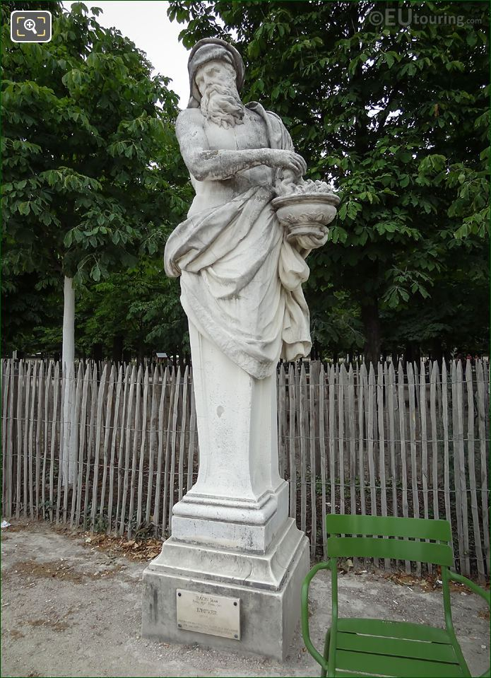 Front View Of L'Hiver Statue