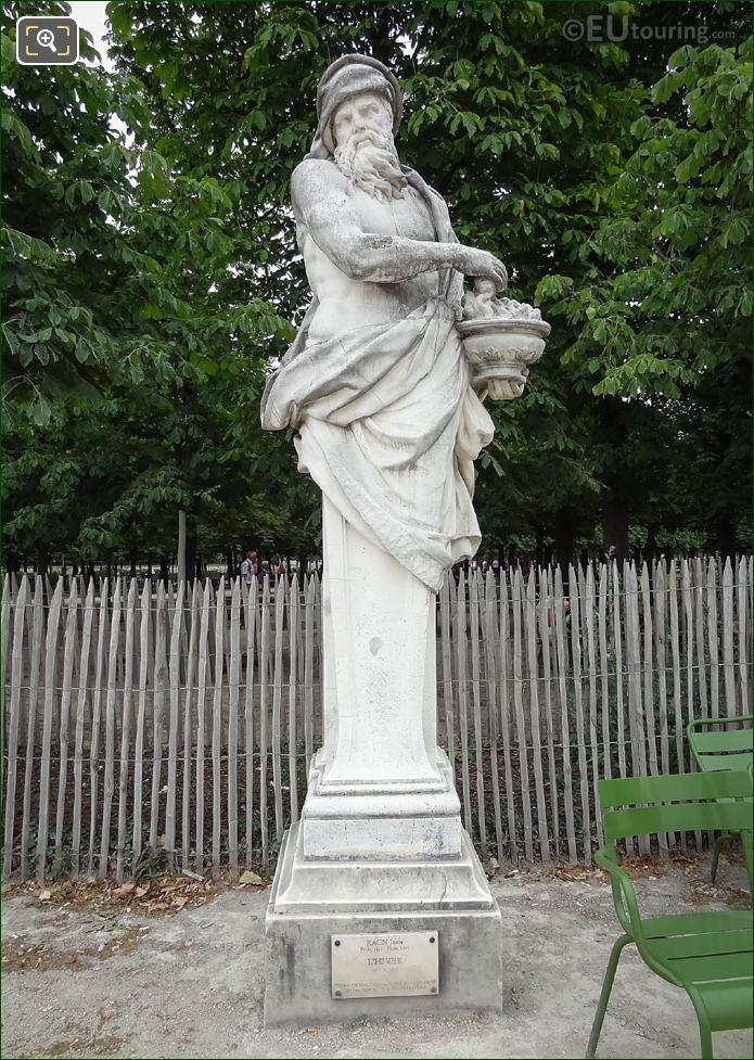 L'Hiver Statue In Jardin Des Tuileries Paris
