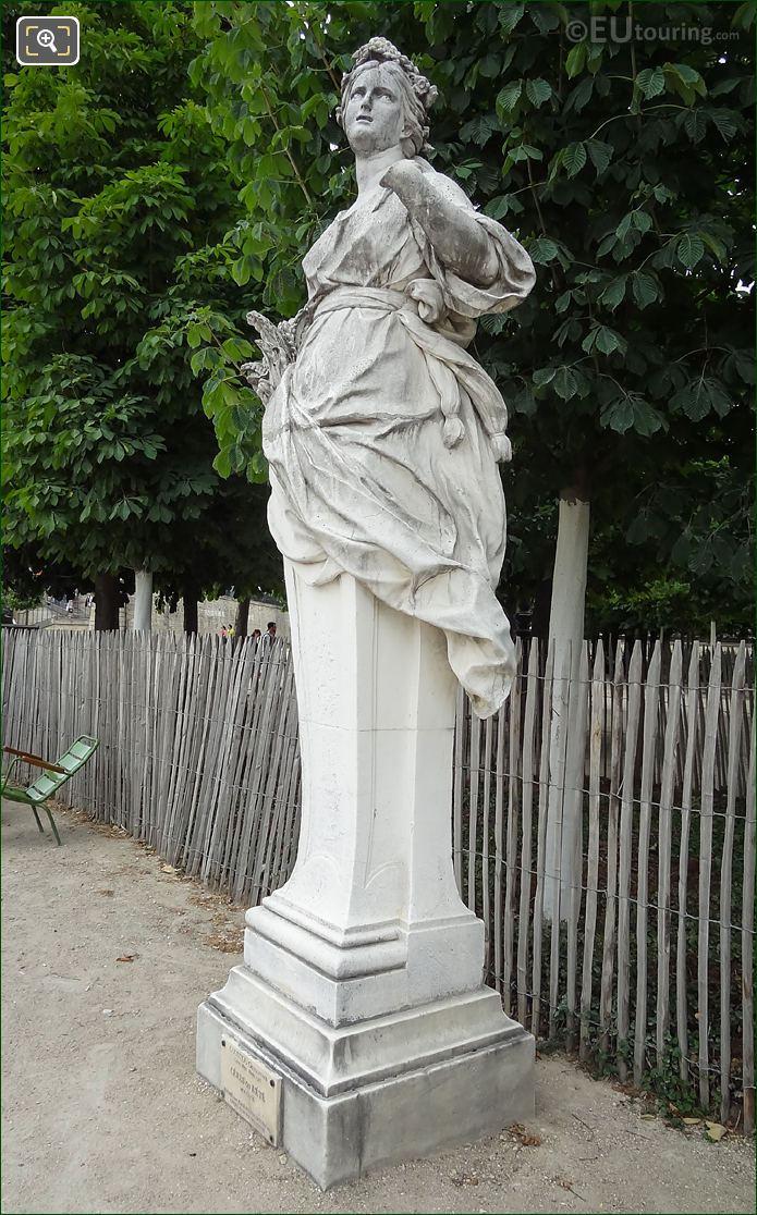 Tuileries Gardens Statue Called Ceres