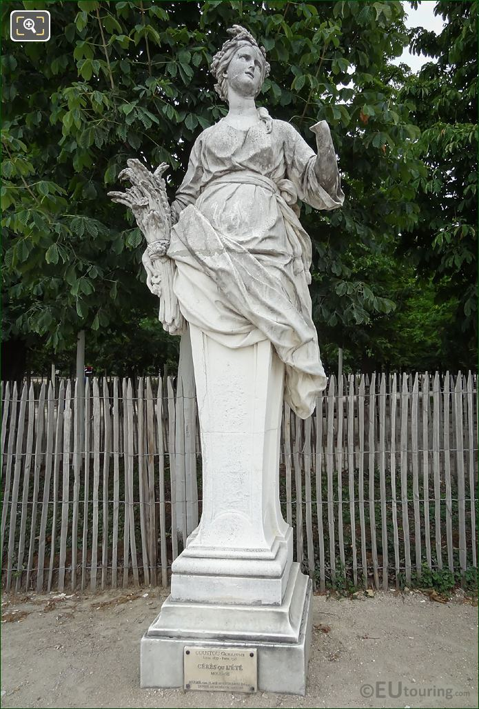 Goddess Of Agriculture Statue Called Ceres Or L'Ete
