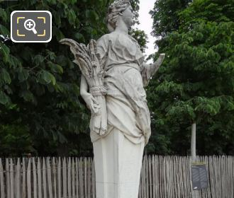 Side View Of Ceres Statue The Goddess Of Agriculture