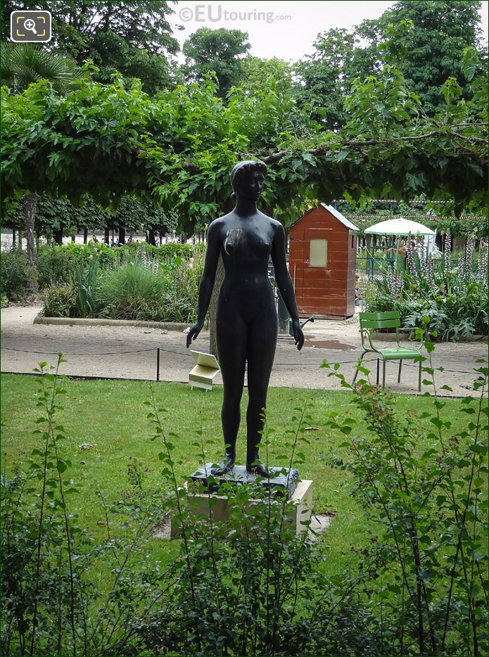 Front View Of Jeanette Statue In Paris