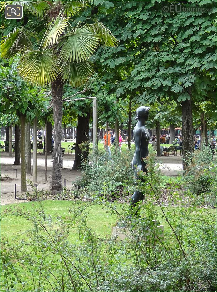 Side View Of Jeanette Statue In Tuileries Gardens