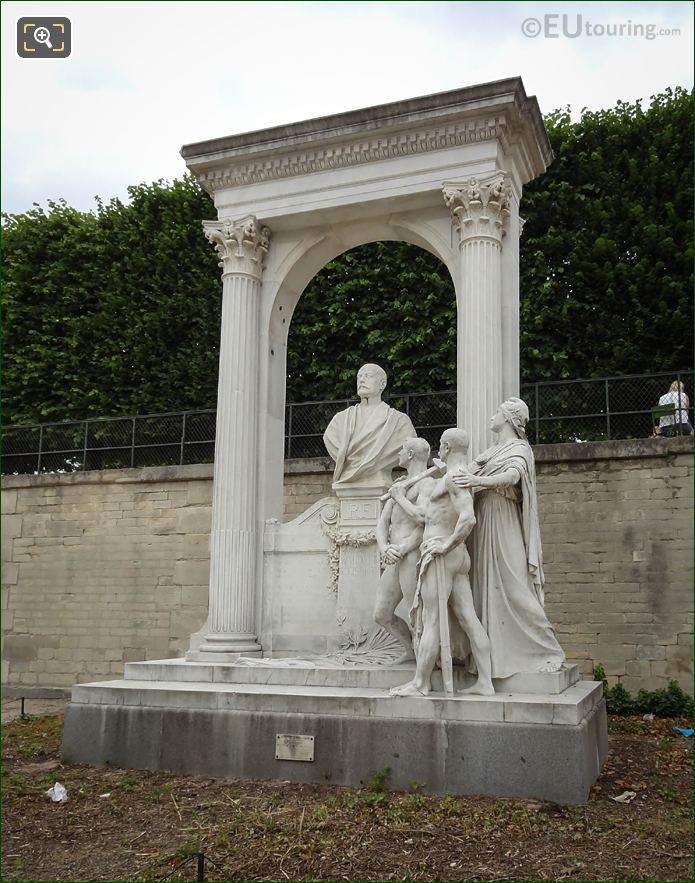 Front View Of Waldeck-Rousseau Monument