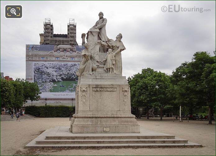 Jules Ferry Monument In Jardin Des Tuileries
