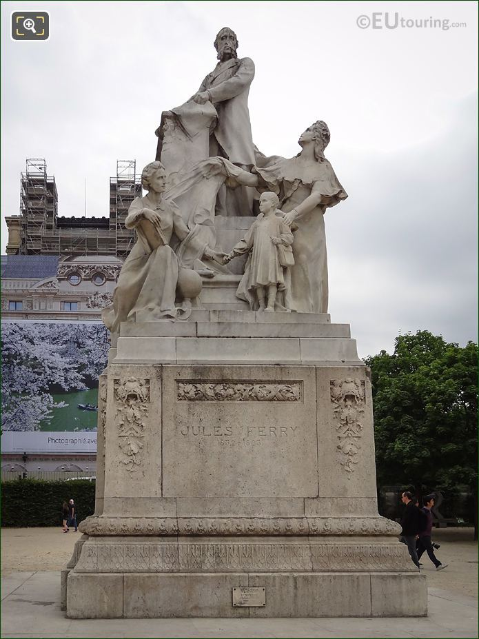 Jules Ferry Monument By Sculptor Gustave Michel