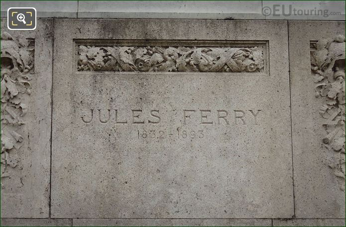 Jules Ferry Name Inscription On Monument