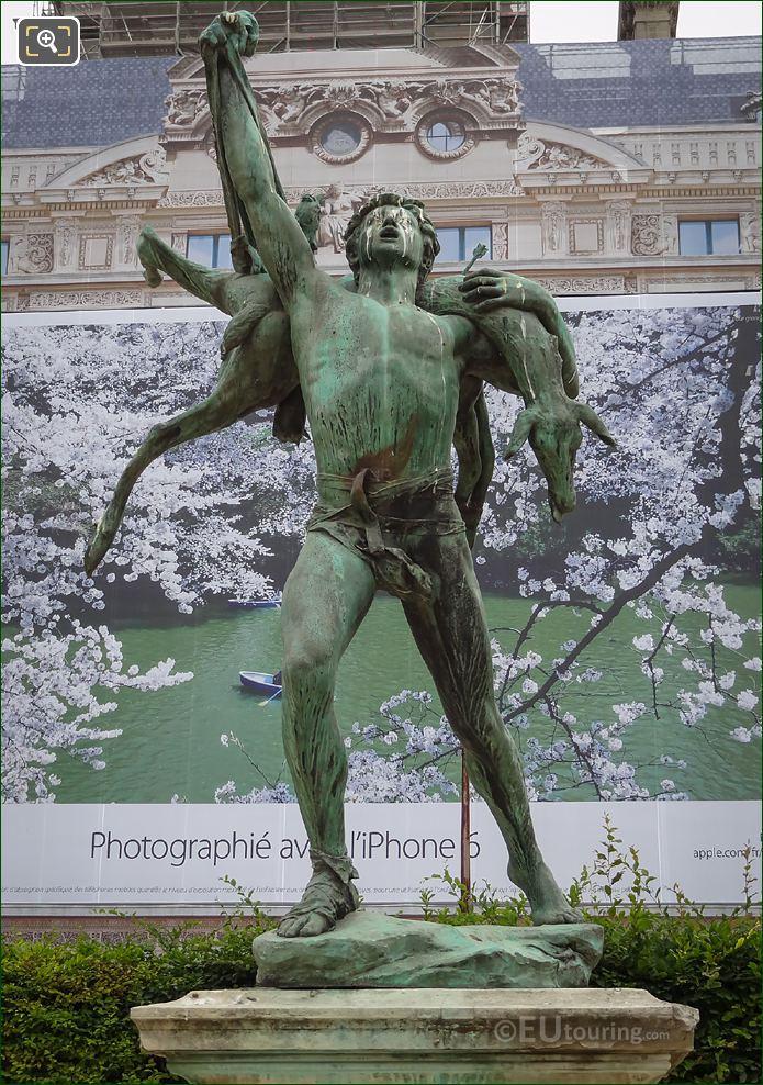 Bronze Retour De Chasse Statue By Sculptor Antonin Carles