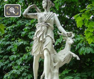 Tuileries Grdns Goddess Of The Hunt Statue Diane A La Biche