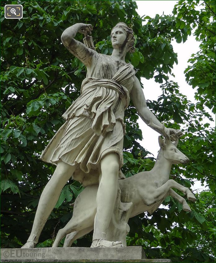 Diana With A Doe Statue Goddess Of The Hunt