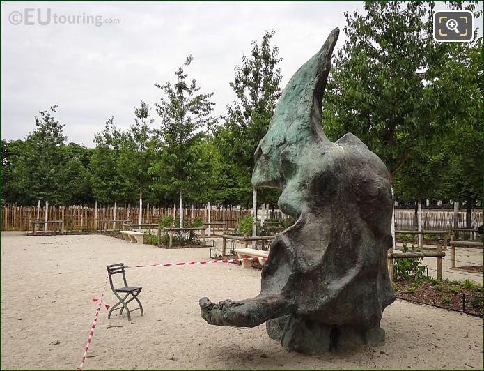 L'Ami De Personne Statue North East Grove Jardin Des Tuileries