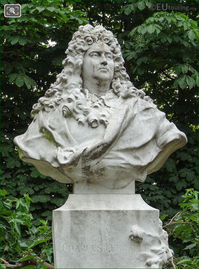 Marble Bust Of Charles Perrault In Jardin Des Tuileries