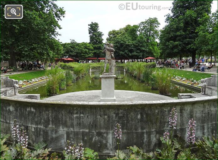 Back Of Faune Au Chevreau Statue