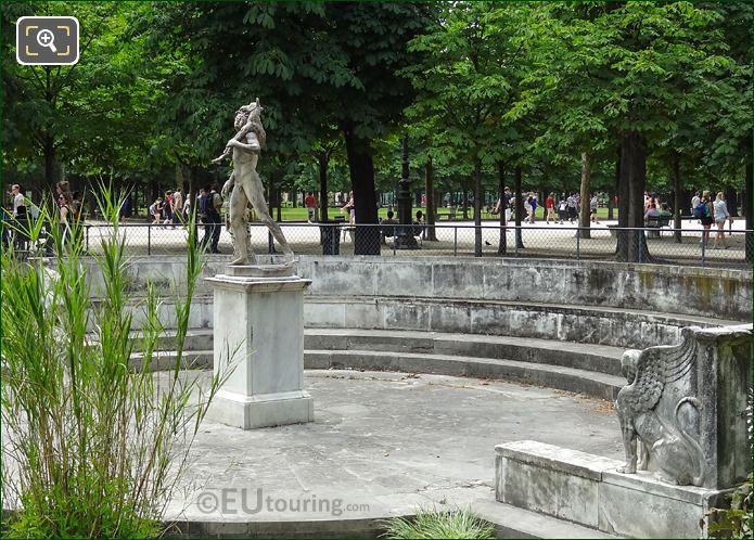 Faune Au Chevreau Statue In Jardin Des Tuileries