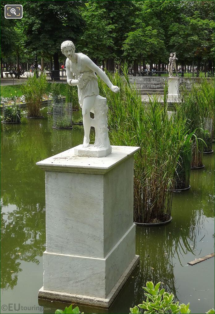 Atalante Statue In Jardin Des Tuileries