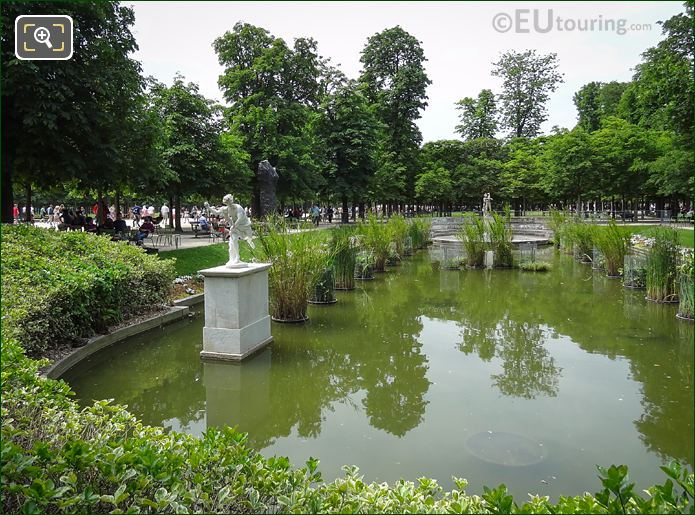Hippomene Statue Within Pond In Jardin Des Tuileries