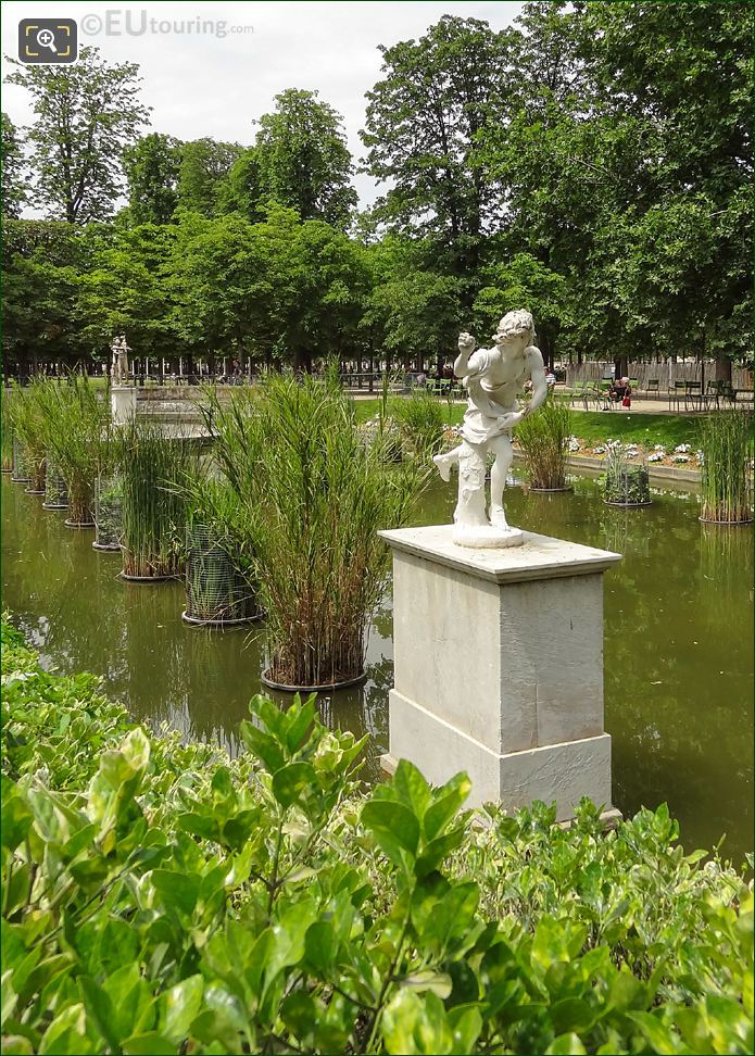 Jardin Tuileries Pond With Hippomene Statue