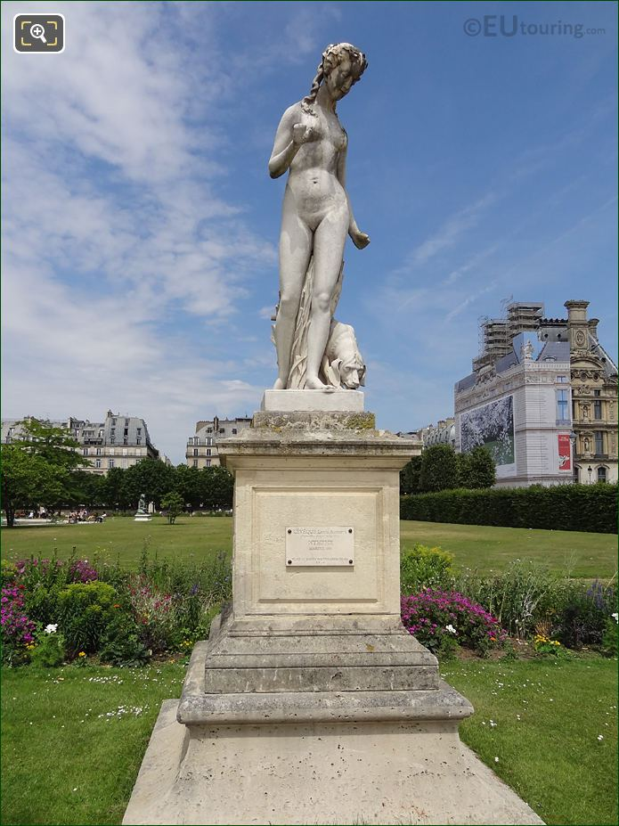 The Marble Nymphe Statue Inside Jardin Des Tuileries
