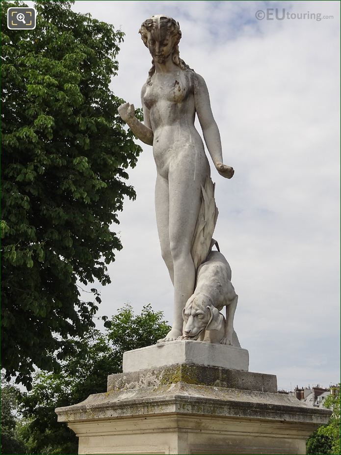 The Front And Left Hand Side Of Nymphe Statue