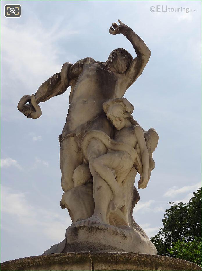 Front Of L'Homme Et Sa Misere Ou La Misere Statue