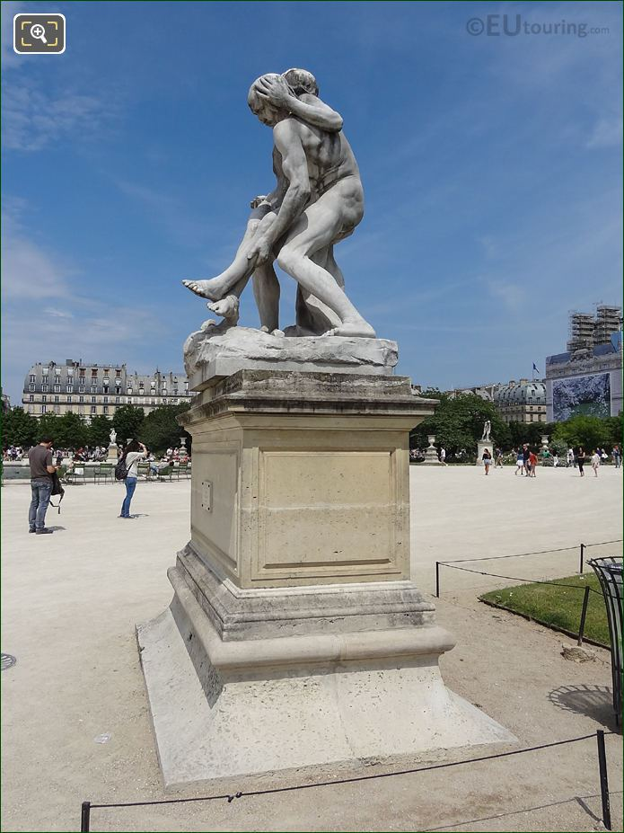 Jardin Des Tuileries Marble Statue The Good Samaritan