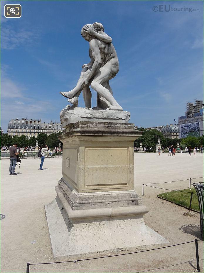 Jardin Des Tuileries Marble Statue The Good Samaritan