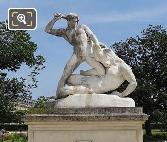 Hercules And Minotaur Statue Jardin Des Tuileries Paris