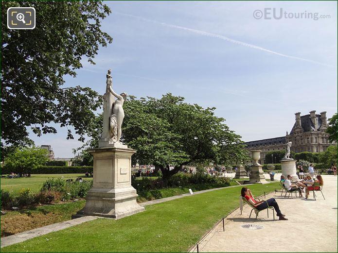 Tuileries Gardens Statue Cassandre Se Met Sous La Protection De Pallas