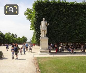 Julius Caesar Statue In Carre Area Of Jardin Des Tuileries