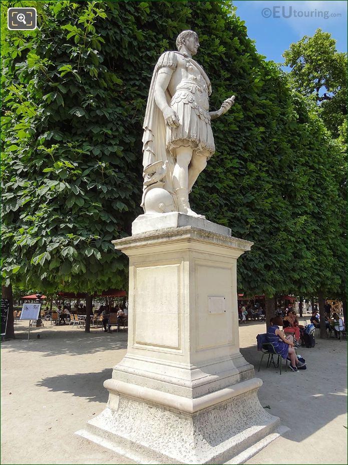 Julius Caesar Statue In Jardin Des Tuileries
