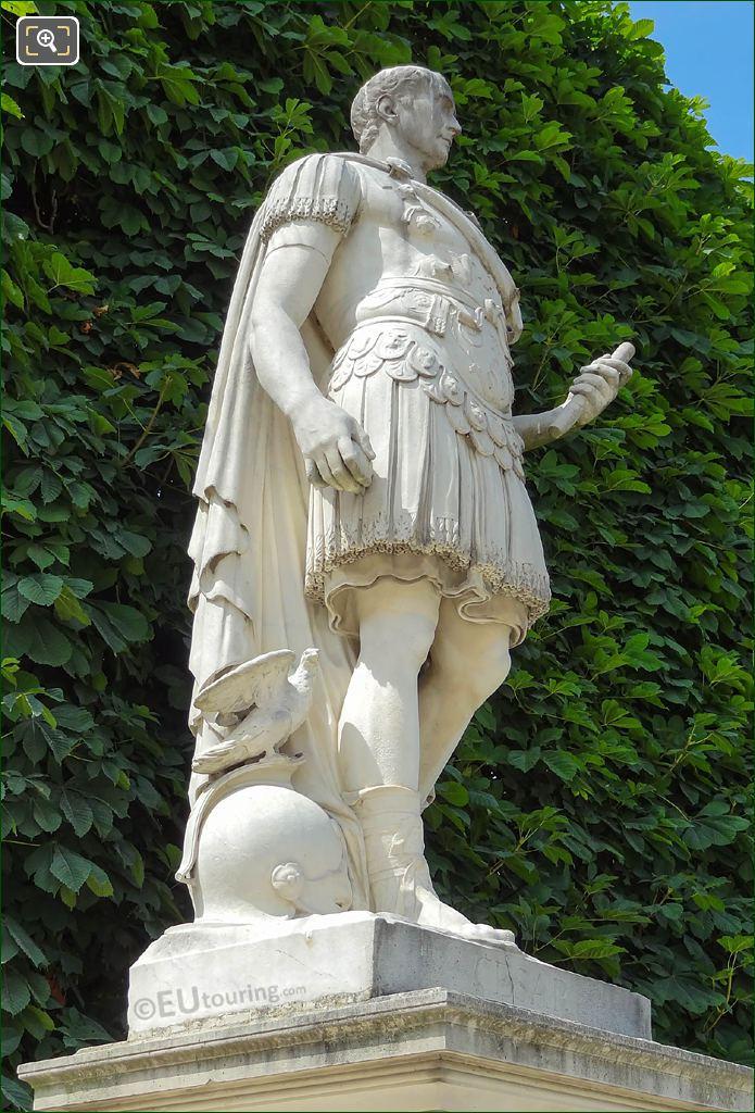 Jardin Des Tuileries Statue Julius Caesar By A Parisi