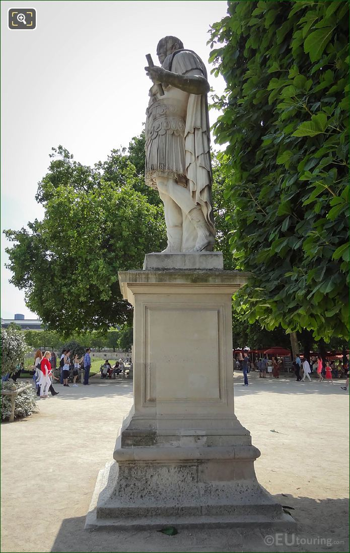 LHS Of Julius Caesar Statue In Jardin Des Tuileries
