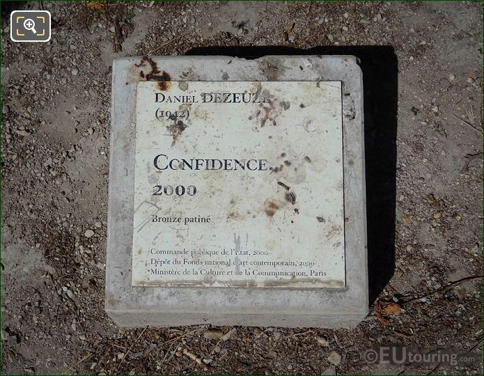 Tourist Information Plaque Confidence Sculpture