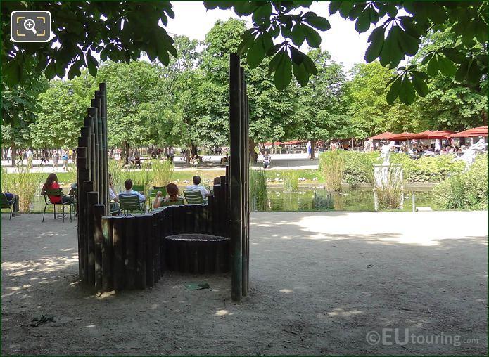 Confidence Sculpture Next To Pond Inside Jardin Des Tuileries