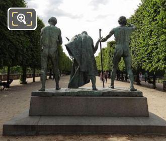 Back Of Les Fils De Cain Statue