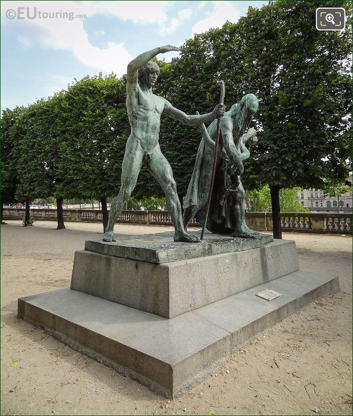 Front And RH Sides Of Les Fils De Cain Statues