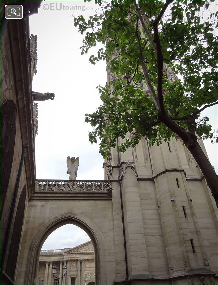 Back Of Angel Statue Eglise Saint Germain l'Auxerrois