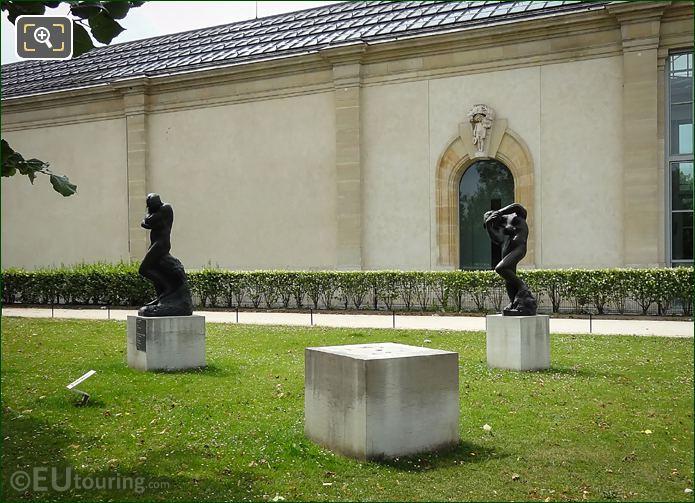 Jardin Des Tuileries Bronze Statue Meditation Avec Bras