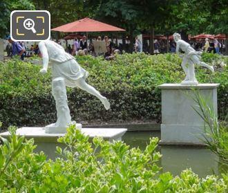 Hippomene Statue Grand Couvert Area Jardin Tuileries