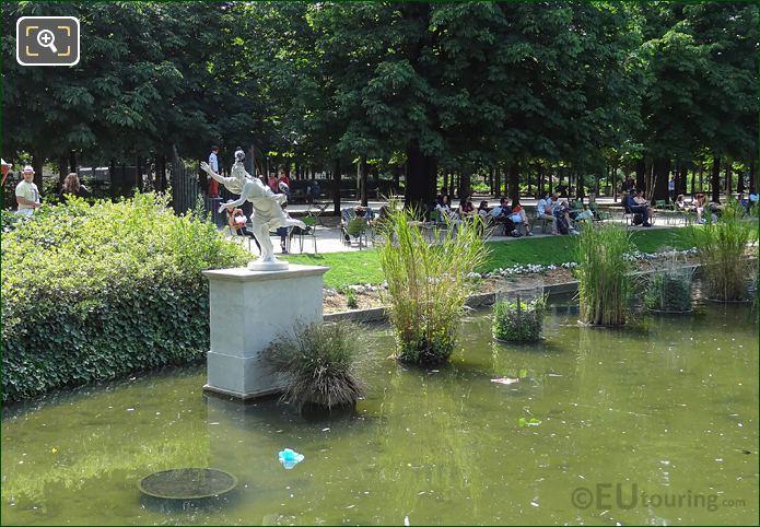 Statue Daphne In Pond Tuileries Gardens