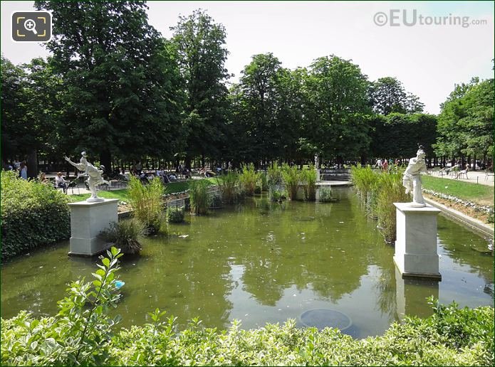 South Pond In Jardin Des Tuileries With Daphne Statue