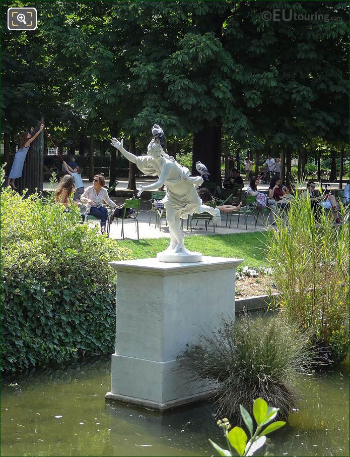 Daphne Statue On Pedestal In Pond