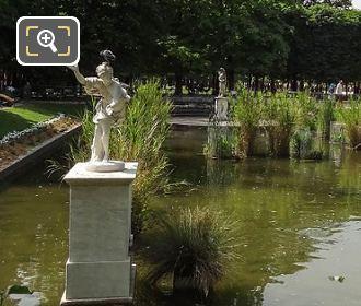 West View Of Daphne Statue In Jardin Des Tuileries