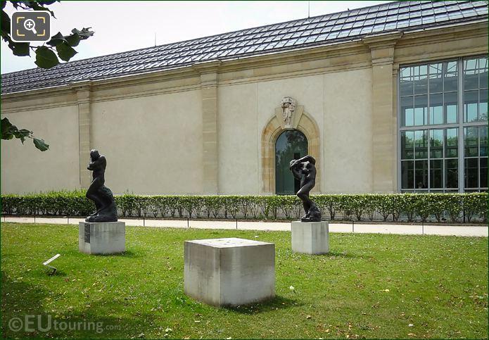 Terrasse De l'Orangerie Garden With Bronze Eve Statue