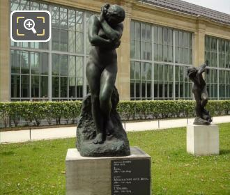 Auguste Rodin 1899 Bronze Eve Statue In Tuileries Gardens